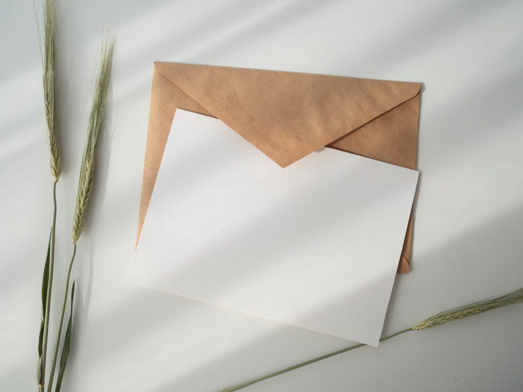 月に一度のお手紙